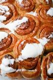 Sweet Homemade Cinnamon Rolls closeup Stock Images