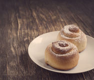 Sweet Homemade Cinnamon Rolls Stock Image