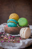 Sweet homemade macaroons Stock Photo