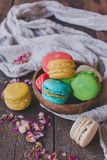 Sweet homemade macaroons Royalty Free Stock Photography