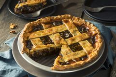 Sweet Homemade Mincemeat Pie Royalty Free Stock Photos