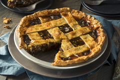 Sweet Homemade Mincemeat Pie Stock Photography