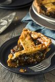 Sweet Homemade Mincemeat Pie Stock Photo