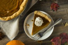 Sweet Homemade Orange Thanksgiving Pumpkin Pie. Ready to Eat stock photography