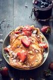 Sweet homemade pancakes stock photo