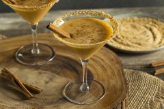 Sweet Homemade Pumpkin Vodka Martini. With Cinnamon Royalty Free Stock Image