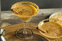 Sweet Homemade Pumpkin Vodka Martini. With Cinnamon Stock Images