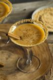 Sweet Homemade Pumpkin Vodka Martini. With Cinnamon Stock Image