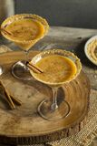 Sweet Homemade Pumpkin Vodka Martini. With Cinnamon Royalty Free Stock Images