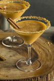 Sweet Homemade Pumpkin Vodka Martini. With Cinnamon Stock Photography