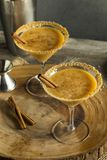 Sweet Homemade Pumpkin Vodka Martini. With Cinnamon Royalty Free Stock Photos