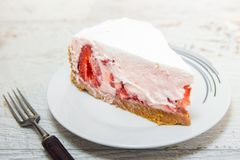 Homemade strawberry cake royalty free stock images