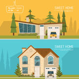Sweet Homes Set Royalty Free Stock Photos