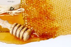 Sweet honey. Fresh and healthy bee honey Royalty Free Stock Images
