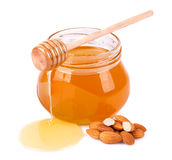 Sweet honey almonds Royalty Free Stock Image