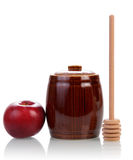 Sweet honey and apple Royalty Free Stock Images