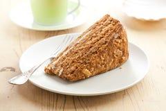 Sweet honey-cake Royalty Free Stock Images