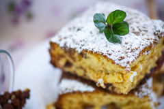 Sweet honey cake with nuts Royalty Free Stock Image