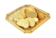 Sweet Honey Cornbread in Basket Stock Photos