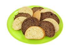 Sweet Honey Cornbread and Brown Bread Slices Stock Photography