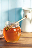 Sweet honey on dipper Stock Photo