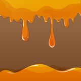 Sweet honey drips seamless Stock Photo