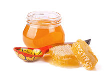Sweet Honey and honeycomb Stock Images