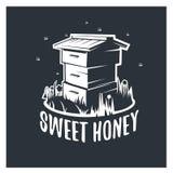 Sweet honey, illustration hive. stock illustration