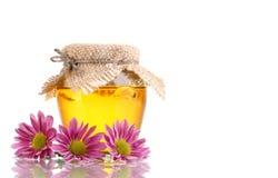 Sweet honey in jar Stock Photo