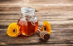 Sweet honey in jar Stock Image