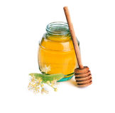 Sweet Honey and linden flowers. Stock Images