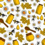 Sweet honey seamless pattern background Royalty Free Stock Photography