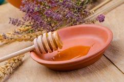 Sweet honey spoon Royalty Free Stock Photos