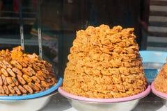 Sweet Honey in market. Meknes. Morocco. Sweet Honey on stall in market. Meknes. Morocco Stock Image