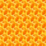 Sweet Honeycomb 3D tiles pattern. Seamless  background.  Royalty Free Stock Photography