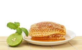 Sweet honeycombs royalty free stock photo