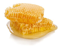 Sweet honeycombs with honey Royalty Free Stock Images