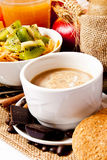 Cappuccino breakfast Royalty Free Stock Photos