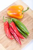 Sweet and hot pepper Royalty Free Stock Photo