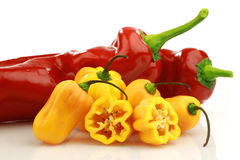Sweet and hot peppers Stock Photo