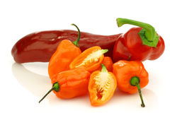 Sweet and hot peppers Royalty Free Stock Photos
