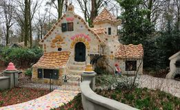 The sweet house of the fairy tale Hansel and Gretel in Theme Park Efteling. Spring royalty free stock images