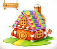Sweet house. vector icon. Sweet house. 3d vector icon Royalty Free Stock Image