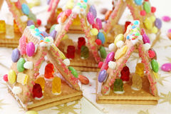 Sweet houses. For kids party Royalty Free Stock Photos