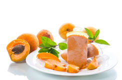 Sweet ice cream from apricots Stock Photo