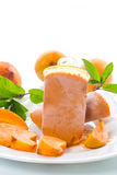 Sweet ice cream from apricots Royalty Free Stock Image