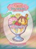 Sweet ice cream menu design concept Stock Images