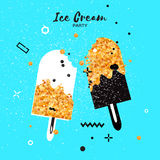 Sweet Ice Cream Stick with different flavor. Royalty Free Stock Images