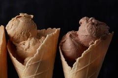 Sweet ice cream In waffle cone Stock Image