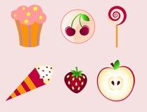 Sweet icons Stock Photos